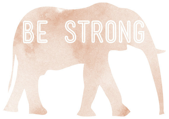Be strong print by vaporqualquer on Etsy