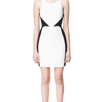 FAUX LEATHER COMBINATION DRESS - Dresses - Woman - ZARA United States