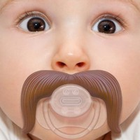 Amazon.com: Stachifier - The Cowboy Mustache Pacifier: Baby