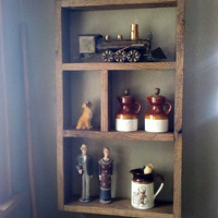 Shadow Bow Shelf Wall Hanging made with Reclaimed Barnwood