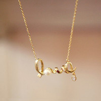 Instafashion  Golden Love Necklace