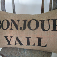 Bonjour Yall stamped eco friendly and recycled shabby by ireckon