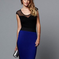 Lipsy Neoprene Block Pencil Skirt