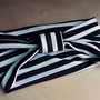 Black and White Stripe Turban Headband | Miracle Eye Original Clothing &amp; Vintage