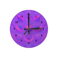 Girly Pink and Purple Wallclock from Zazzle.com