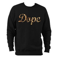 Dope Leopard Print trill sweatshirt OFWG by 21CenturyClothing