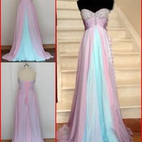 Formal Chiffon Long Prom Dresses Ball Gown Prom Dress