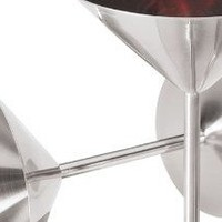 Oggi 8-Ounce Stainless Steel Martini Goblets