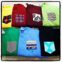 MEDIUM Custom crew cut sweatshirts with pocket