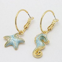 Seahorse & Starfish Earrings