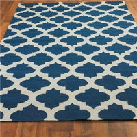 Ironwork Trellis Dhurrie Rug - Shades of Light