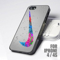 Nike Sport Logo Glitter design for iPhone 4 or 4s case