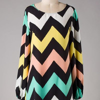 Chevron Spring Time Dress