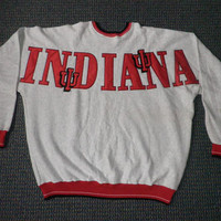 Vtg LEGENDS Indiana University IU Hoosiers Crewneck Sweatshirt XL Extra Large