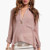 Evie Pocket Blouse $44