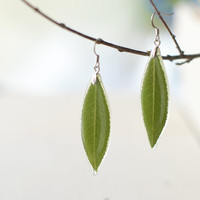 $35.00 Real leaf earrings  by UralNature