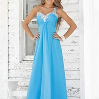 A line Strapless Sweetheart Long Chiffon Prom Dress