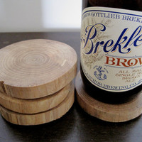 Natural Wood - Rustic Maple Wooden Coasters