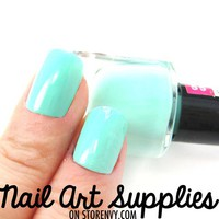 nailartsupplies | Mint Green - Blue Green Nail Polish in Mint 16ml | Online Store Powered by Storenvy