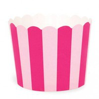 Shop Sweet Lulu - Paper Baking Cups: Pink Stripes