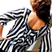 Zebra Effect Top In Black and White - Bliss Salon and Boutique