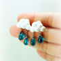 Of Rain and Rainbows Cloud Earrings and Rain