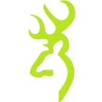 Deer Buckmark Browning Gun Logo Lime Green Vinyl Car, Truck, Notebook, Vinyl Decal Sticker