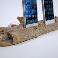 Driftwood Dual iPhone Docking Station