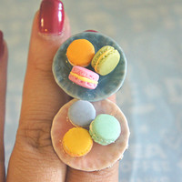 macarons plate ring