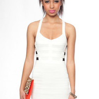 Cross Your T-Back Dress in Ivory :: tobi
