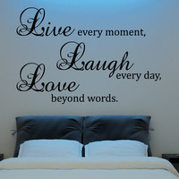 Live Laugh Love Wall Decal Vinyl Sticker Quote Art  Living Room Dining Room Decor mothers day gifts for mom or your mother
