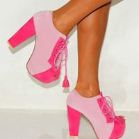 LADIES PASTEL PINK SUEDE...