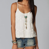 FULL TILT Mixed Media Crochet Womens Tank