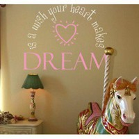Alphabet Garden Designs A Wish Your Heart Makes Wall Decal - child002