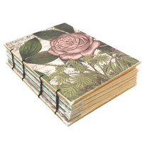 Romantic Rose Coptic Bound Journal