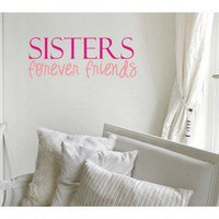 Alphabet Garden Designs Sisters Friends Wall Decal - child053