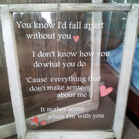 Old Window Pane with Hunter Hayes 'Wanted' Lyrics
