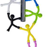 Q-Man Mini Magnets: Flexible figures with magnetic hands and feet