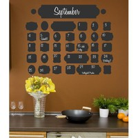 Amazon.com: Vintage Chalkboard Calendar wall saying vinyl lettering home decor decal stickers quotes: Home & Kitchen