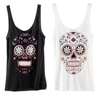 Style Mermaid  Sugar Skull Tank