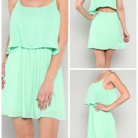 Flirty Mint Dress from Monica's Closet Essentials