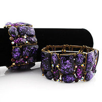Purple Large Gem Bracelet