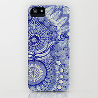 blue iPhone Case by Yes Menu
