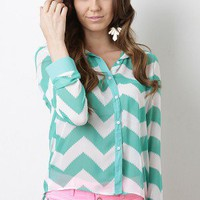 Chevron Chelsea Top