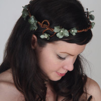 Woodland Fairy Bridal Crown - Wedding Head Piece - Hair Accessory - The Leila