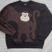 NeW MONKEY AROUND sweatshirt sweater jumper by CreativeCallipipper