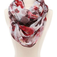 Poppy Blossom Infinity Scarf: Charlotte Russe