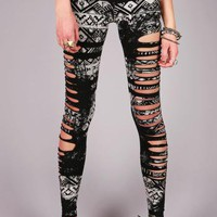 Aztec Grunge Leggings | Edgy Leggings at Pink Ice