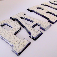 PARIS Wood Letters by HookUUpCustomCrafts on Etsy