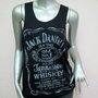Jack Daniel&#x27;s Tennessee Whiskey T-Shirt Women shirt Tank Tops vest shirt silkscreen Chic shirt Rock Punk classic backless Black Q92 Size M L